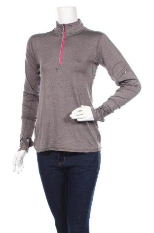 Дамска спортна блуза Carve, Размер XS, Цвят Сив, Полиестер, еластан, Цена 21,42лв.