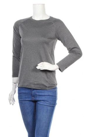 Дамска спортна блуза Champion, Размер L, Цвят Сив, Полиестер, Цена 13,23лв.