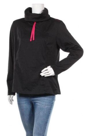 Дамска спортна блуза Decathlon, Размер XL, Цвят Черен, Цена 13,44лв.