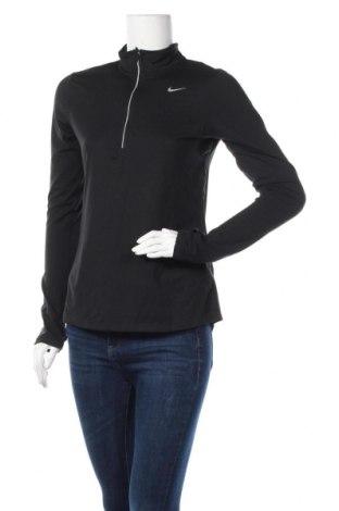 Дамска спортна блуза Nike, Размер S, Цвят Черен, 88% полиестер, 12% еластан, Цена 32,13лв.