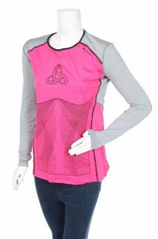 Дамска спортна блуза Odlo, Размер XL, Цвят Розов, 90% полиестер, 10% еластан, Цена 51,75лв.