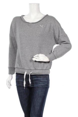 Дамска спортна блуза PUMA, Размер S, Цвят Сив, 84% памук, 16% полиестер, Цена 29,93лв.