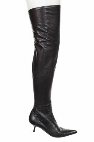 Γυναικείες μπότες Giuseppe Zanotti, Μέγεθος 37, Χρώμα Μαύρο, Γνήσιο δέρμα, Τιμή 84,22€