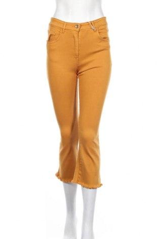 Дамски дънки Patrizia Pepe, Размер M, Цвят Жълт, 85% памук, 10% полиестер, 5% еластан, Цена 110,24лв.