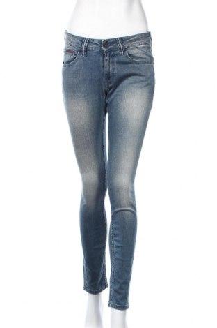 Дамски дънки Tommy Hilfiger, Размер L, Цвят Син, 92% памук, 6% други материали, 2% еластан, Цена 55,86лв.