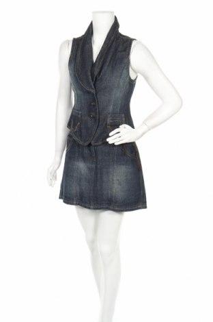Дамски костюм Ms Mode, Размер M, Цвят Син, 90% памук, 10% полиестер, Цена 8,93лв.