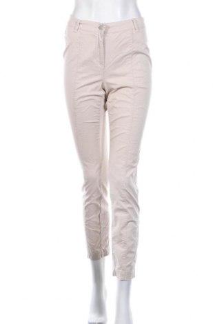 Дамски панталон Andrea, Размер XS, Цвят Бежов, 96% памук, 4% еластан, Цена 9,92лв.