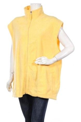 Дамски поларен елек, Размер 3XL, Цвят Жълт, Полиестер, Цена 19,69лв.