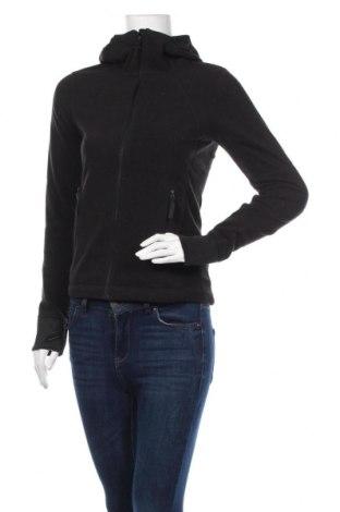 Дамски поларен суичър H&M Sport, Размер XS, Цвят Черен, Полиестер, Цена 22,68лв.
