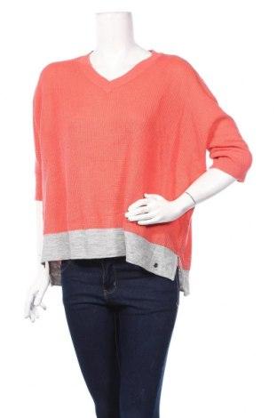 Дамски пуловер Ajc, Размер L, Цвят Оранжев, 90% акрил, 5% полиестер, 5% полиамид, Цена 19,11лв.