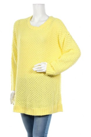 Дамски пуловер Bpc Bonprix Collection, Размер XXL, Цвят Жълт, Акрил, Цена 25,94лв.