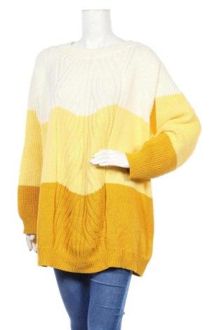 Дамски пуловер Bpc Bonprix Collection, Размер 3XL, Цвят Бял, 50% памук, 50% акрил, Цена 30,92лв.