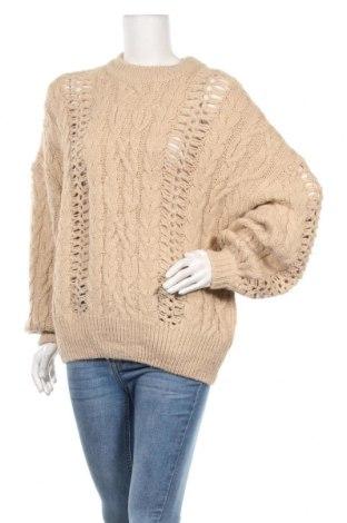 Дамски пуловер Pull&Bear, Размер S, Цвят Бежов, 78% акрил, 13% полиамид, 9% полиестер, Цена 22,68лв.