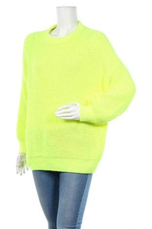 Дамски пуловер Pull&Bear, Размер M, Цвят Жълт, Акрил, Цена 33,60лв.