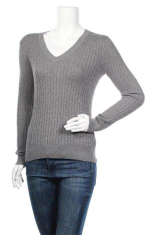 Дамски пуловер Tommy Hilfiger, Размер XS, Цвят Сив, Памук, Цена 51,87лв.
