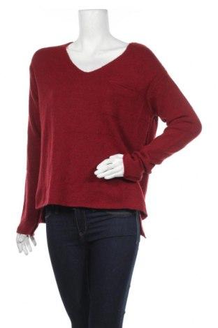 Дамски пуловер United Colors Of Benetton, Размер L, Цвят Червен, 75% акрил, 10% вълна, 5% вълна от алпака, 5% вискоза, 5% полиестер, Цена 32,13лв.