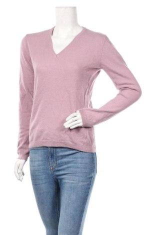 Дамски пуловер United Colors Of Benetton, Размер S, Цвят Розов, Вълна, Цена 31,92лв.