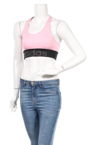 Дамски спортен топ Adidas, Размер XS, Цвят Розов, 89% полиестер, 11% еластан, Цена 27,04лв.