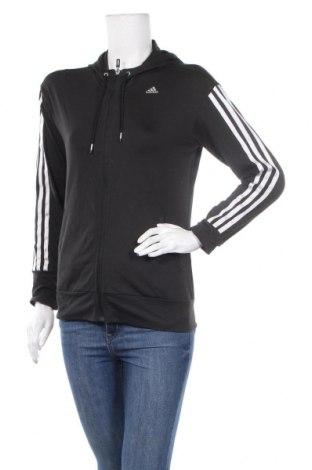 Дамски суичър Adidas, Размер M, Цвят Черен, 93% полиестер, 7% еластан, Цена 34,81лв.