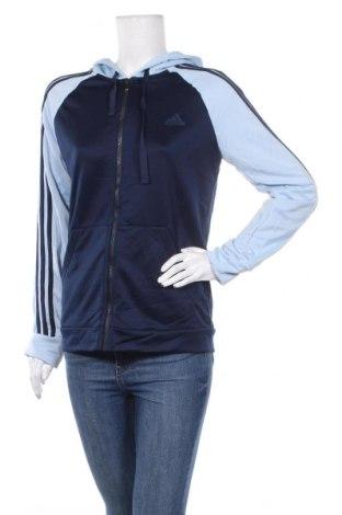 Дамски суичър Adidas, Размер L, Цвят Син, Полиестер, Цена 33,50лв.