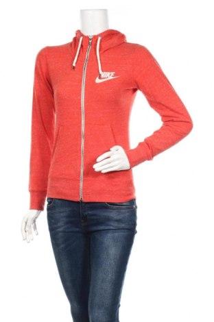 Дамски суичър Nike, Размер XS, Цвят Оранжев, 60% памук, 40% полиестер, Цена 24,99лв.