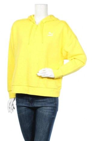 Дамски суичър PUMA, Размер XS, Цвят Жълт, 94% памук, 6% еластан, Цена 26,46лв.