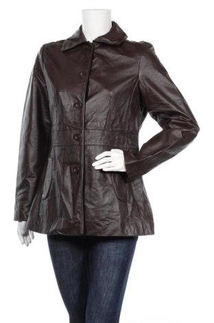 Дамско кожено палто Target, Размер L, Цвят Кафяв, Естествена кожа, Цена 28,74лв.