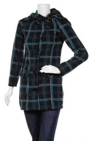 Дамско поларено палто 98-86, Размер XS, Цвят Черен, Полиестер, Цена 19,37лв.