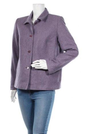 Дамско сако Tex, Размер XL, Цвят Лилав, 65% вълна, 17% полиестер, 15% акрил, 3% полиамид, Цена 40,95лв.