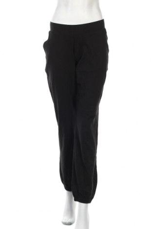 Дамско спортно долнище, Размер L, Цвят Черен, 95% памук, 5% еластан, Цена 16,96лв.