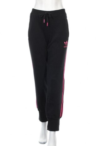 Дамско спортно долнище Adidas Originals, Размер L, Цвят Черен, 80% памук, 20% полиестер, Цена 28,35лв.