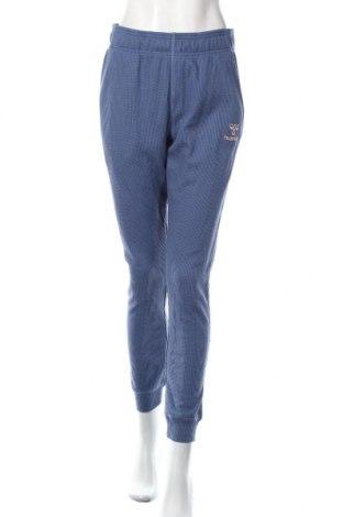 Дамско спортно долнище Hummel, Размер M, Цвят Син, 60% памук, 40% полиестер, Цена 48,00лв.