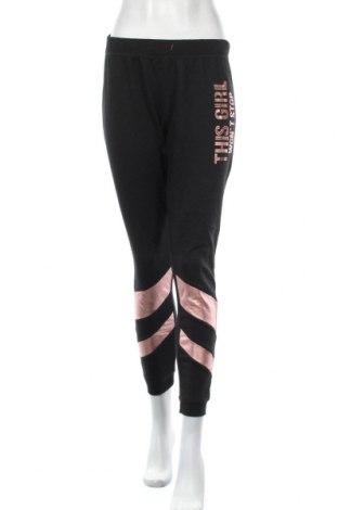 Дамско спортно долнище Jean Pascale, Размер M, Цвят Черен, 67% полиестер, 33% памук, Цена 17,96лв.