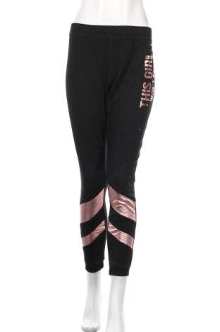 Дамско спортно долнище Jean Pascale, Размер L, Цвят Черен, 67% полиестер, 33% памук, Цена 27,93лв.
