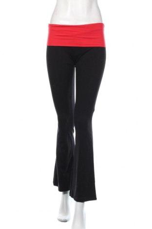 Дамско спортно долнище Popular, Размер S, Цвят Черен, 92% памук, 8% еластан, Цена 19,32лв.