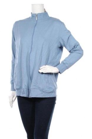 Дамско спортно горнище Up 2 Fashion, Размер XL, Цвят Син, 95% памук, 5% еластан, Цена 28,56лв.