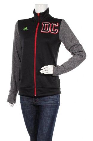 Дамско спортно горнище Adidas, Размер S, Цвят Черен, Полиестер, Цена 23,10лв.