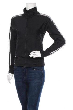 Дамско спортно горнище Adidas, Размер M, Цвят Черен, 91% полиамид, 9% еластан, Цена 38,75лв.