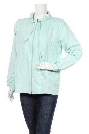Дамско спортно горнище Life Time, Размер XL, Цвят Зелен, 65% памук, 35% полиестер, Цена 11,66лв.