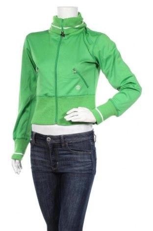 Дамско спортно горнище Lululemon, Размер S, Цвят Зелен, Полиестер, Цена 20,53лв.