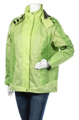 Дамско спортно яке, Размер XL, Цвят Зелен, Полиамид, Цена 17,85лв.