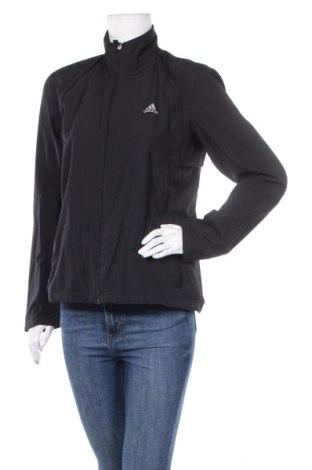 Дамско спортно яке Adidas, Размер L, Цвят Черен, Полиестер, Цена 30,24лв.