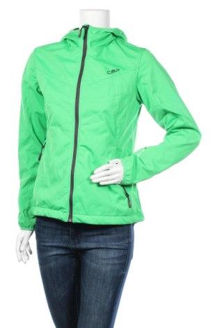 Дамско спортно яке CMP, Размер M, Цвят Зелен, Полиестер, Цена 19,64лв.