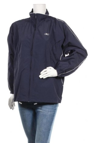 Дамско спортно яке Reebok, Размер XL, Цвят Син, 65% памук, 35% полиестер, Цена 30,14лв.