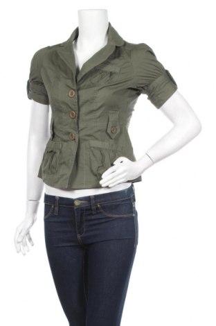 Дамско яке Better B, Размер S, Цвят Зелен, 97% памук, 3% еластан, Цена 6,72лв.