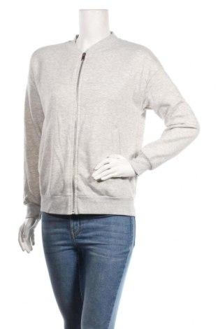 Дамско спортно горнище Gina Tricot, Размер S, Цвят Сив, 56% полиестер, 44% памук, Цена 15,12лв.