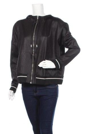 Дамски суичър H&M, Размер L, Цвят Черен, 88% полиестер, 12% еластан, Цена 13,86лв.