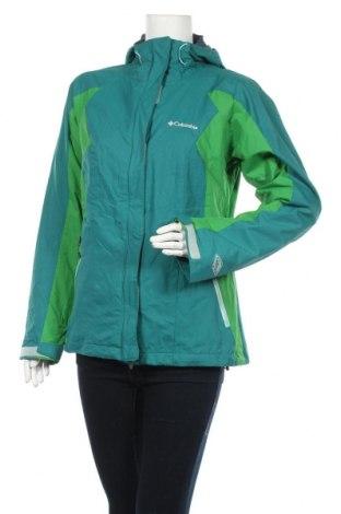 Дамско яке за зимни спортове Columbia, Размер M, Цвят Зелен, Полиамид, Цена 87,47лв.