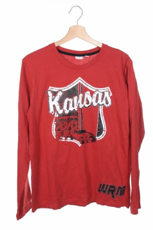 Детска блуза Nkd, Размер 15-18y/ 170-176 см, Цвят Червен, Памук, Цена 13,23лв.