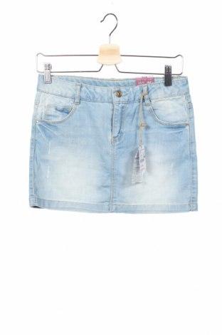 Детска пола Zara Kids, Размер 13-14y/ 164-168 см, Цвят Син, 78% памук, 21% полиестер, 1% еластан, Цена 32,30лв.